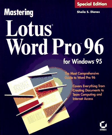 mastering lotus word pro 96 for windows 95 special edition dienes sheila s 9780782113907 amazon com books mastering lotus word pro 96 for windows 95 special edition