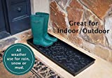 BirdRock Home Rubber Boot Tray - 34 inch Decorative