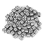 Akozon 50pcs Stainless Steel Coiled Wire Helical