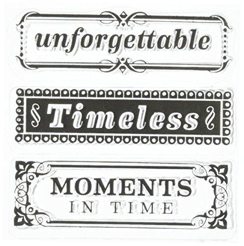 Inkadinkado EK Success Timeless Phrases Clear Stamp