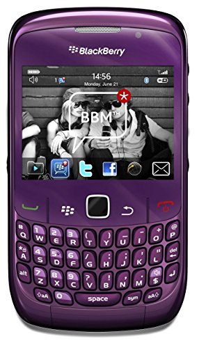 Blackberry Curve 8520 Unlocked Quad-Band GSM Phone with 2MP Camera, QWERTY Keyboard, Wi-Fi and Bluetooth - Purple