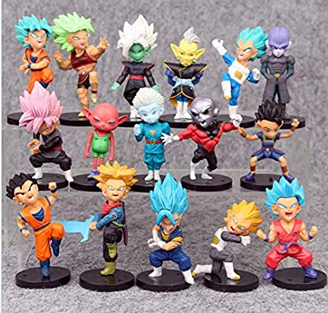 168788bc76682 AG Goodies 16pcs Dragon Ball Z Super Dragon Stars Toys Goku Action Figures  Cake Toppers Set - Toy Collection Gift