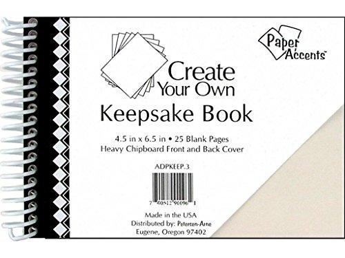 Spiral Chipboard Album - Accent Design Paper Accents 4.5x6.5 White CYO KeepBook Wht Cvr