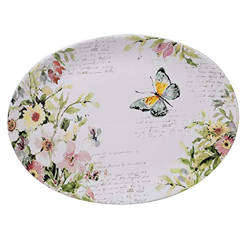 Certified International 26649 Spring Meadows Oval Platter 16in x 12in Servware, Serving Acessories Multicolred