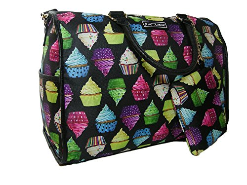 New Betsey Johnson Weekender Luggage Bag Tote & Wristlet Cup Cakes 2 Piece Set