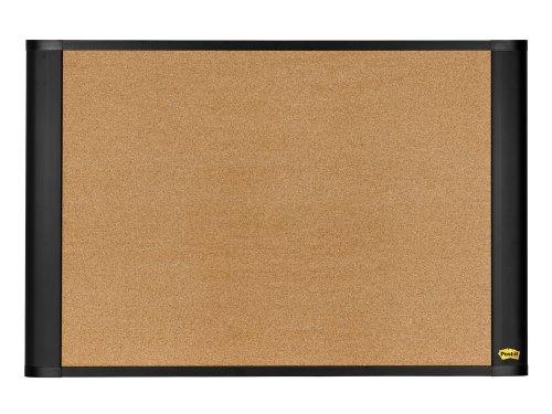 Post-it Sticky Cork Board, 36 x 48-Inches, Widescreen Graphite-Finish Frame