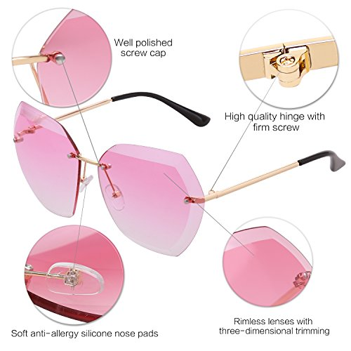 montura polarizadas sin Rosa SOJOS transparente SJ5018 Clubmaster Gradiente Gafas Lente lente Semi 1073c7 Brazo sol de Dorado IwqaXta