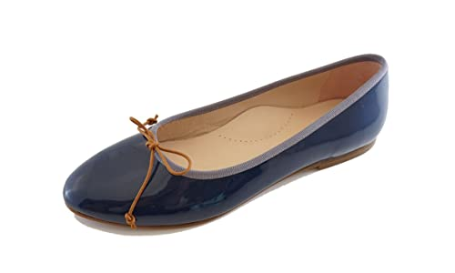 Beberlis - Mocasines de Piel para niña Azul azul, color Azul, talla 40 EU: Amazon.es: Zapatos y complementos