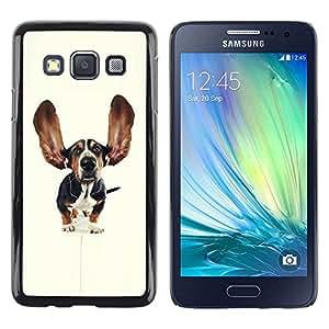 Be Good Phone Accessory // Dura Cáscara cubierta Protectora Caso Carcasa Funda de Protección para Samsung Galaxy A3 SM-A300 // Basset Hound Dog Ears Pet Puppy
