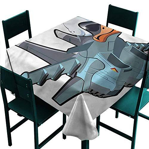 Iridescent cloud Airplane Decorative Textured Fabric Tablecloth Jet