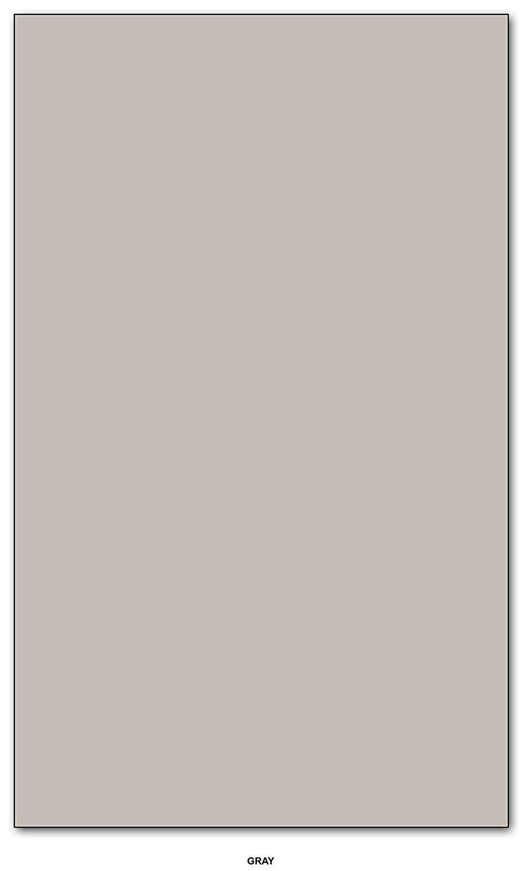 1 Case of 1000 Sheets, 8.5'' x 14'' Card Stock Paper, 67Lb Vellum Bristol Pastel Color Cardstock (Gray)