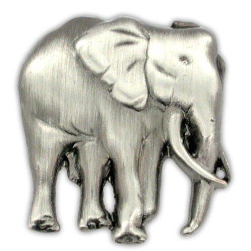 PinMart Elephant Zoo Animal Antique Silver Lapel Pin ()