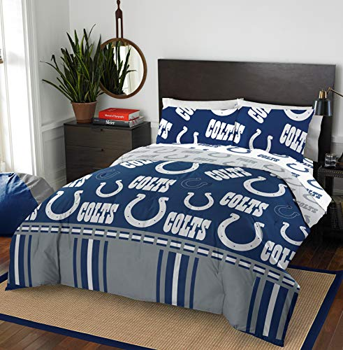 The Northwest Company NFL Indianapolis Colts Queen Bed in a Bag Complete Bedding Set #116628799