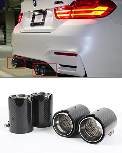 Fits for 2015-2019 BMW F80 M3 F82 F83 M4 Carbon Fiber Stainless Steel Exhaust Tip Finishers x 4