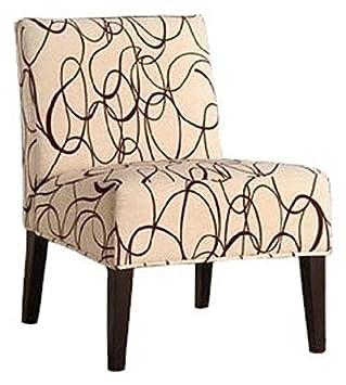 Homelegance Lifestyle Armless Lounge Chair, Swirl