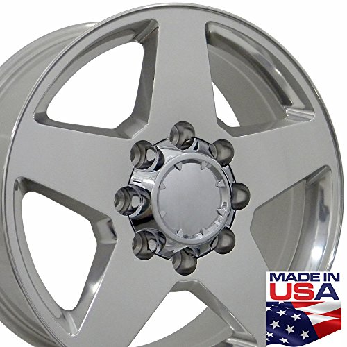 20x8.5 Wheels Fit Heavy Duty GM Trucks - Chevy Silverado Style Rim Polished - SET (Chevy Truck Rims 20 compare prices)