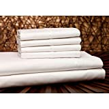 Fashion Bed Group QH0304 White 4-Piece T750 Home Collection Bed Sheet Set with 750-Thread Count Fabric, Cal King