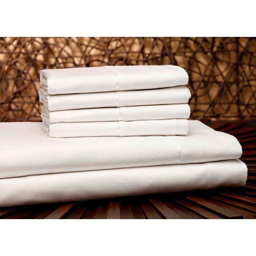 leggett & platt - home textiles Fashion Bed Group QH0304 White 4-Piece T750 Home Collection Bed Sheet Set with 750-Thread Count Fabric, Cal (Southern Textiles Linens)
