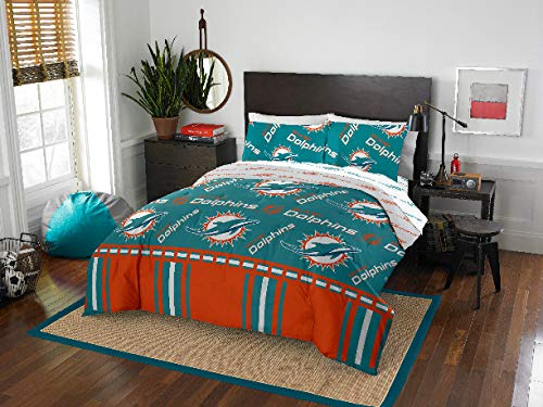 Miami Dolphins NFL Queen Comforter & Sheets, 5 Piece NFL Bedding, New! + Homemade Wax Melts