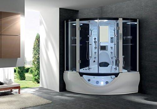 Venus Hammam para doble ángulo de ducha bañera de hidromasaje 160 x 160 x H226 cm, 5 mm cristal transparente antical: Amazon.es: Bricolaje y herramientas