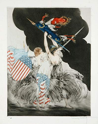 """Louis Icart Courage My Legions 1917 30"""" x 24"""" Fine for sale  Delivered anywhere in USA"""