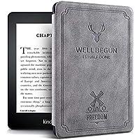 Capa Kindle Deer - Novo Kindle Paperwhite À Prova D Água - Fecho Magnético (CINZA)