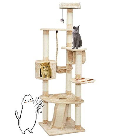Amazon.com: XWDQ - Pasamanos para gatos de varias capas, 3 ...