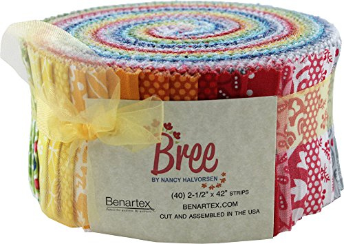 Nancy Halverson Bree Pinwheel 40 2.5-inch Strips Jelly Roll (Nancy Floral Quilt)