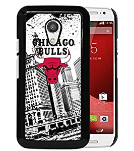 Beautiful Designed Case With Chicago Bulls Black For Motorola Moto G 2nd Generation Phone Case