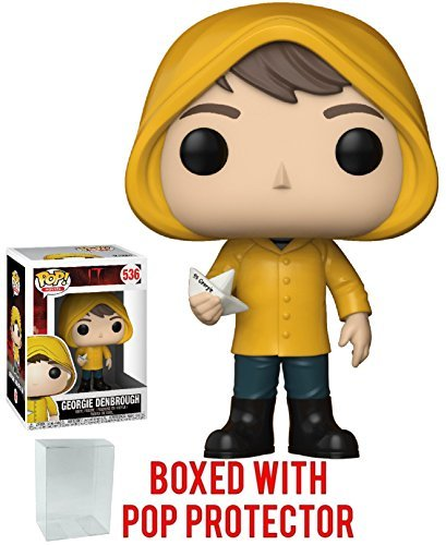 Funko Pop! Movies: Stephen King's It - Georgie Denbrough with Boat Vinyl Figure (Bundled with Pop Box Protector Case) -