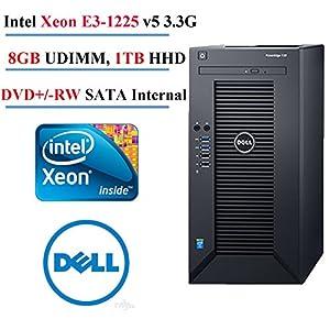 2017 Newest Dell PowerEdge T30 Mini Tower Server Desktop , Intel Xeon E3-1225 v5 3.3G, 8M cache, 8GB UDIMM, 2400MT/s, 1TB Hard Drive