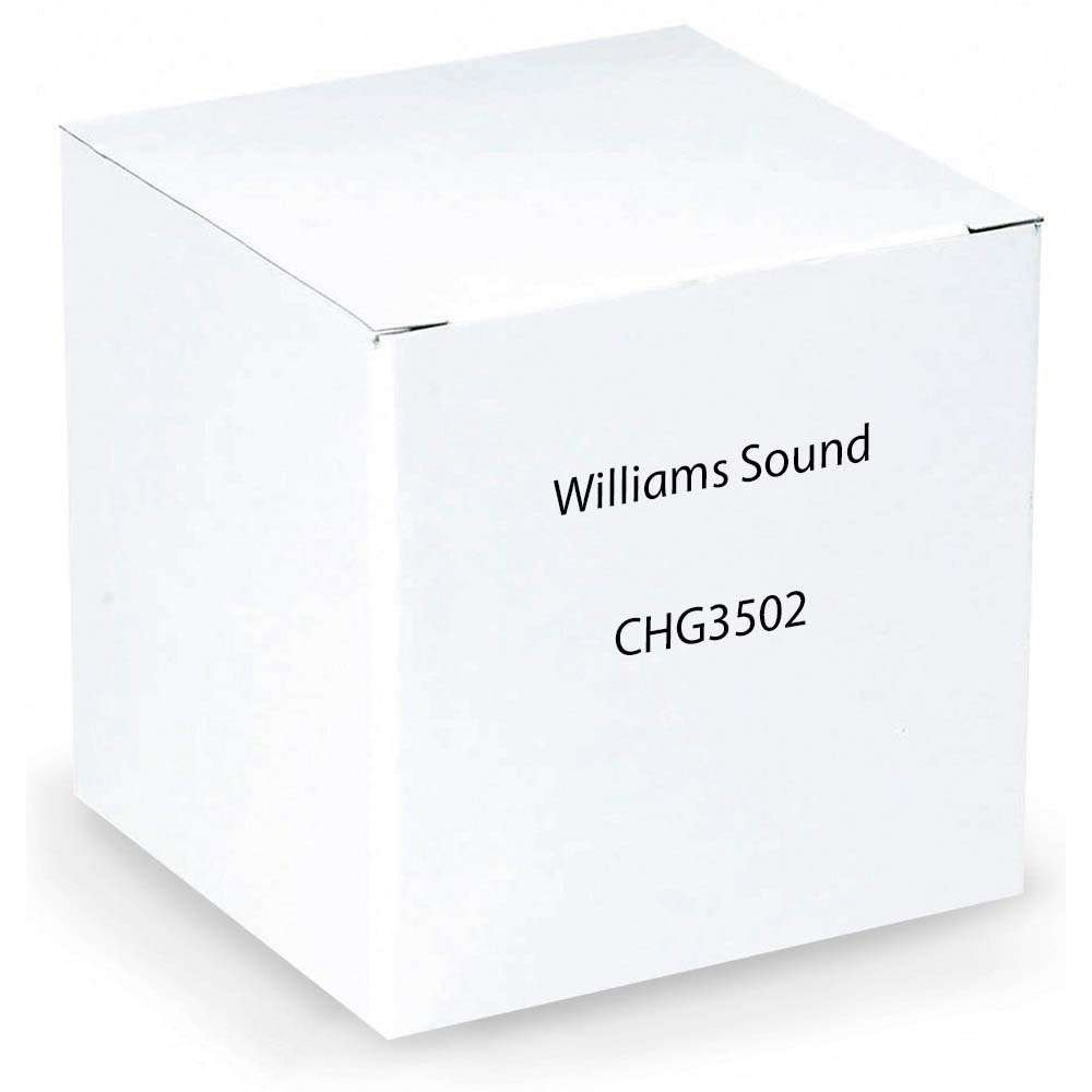 Williams Sound CHG 3502 Body-pack Dual Charger For use with PLR BP1 Loop receiver, PPA R37 FM receiver, PPA R37-8 FM receiver, PPA R38 FM receiver, PPA T46 FM transmitter and WIR RX22-4 Infrared receiver