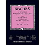 Arches Watercolor Paper Pad, 140 pound, Hot