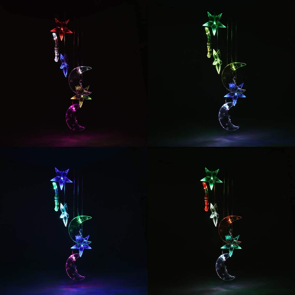 Windglockenlampe Style A Farbwechsel LED f/ür den Au/ßenbereich romantische Kugel dekorativ Windlicht Solar-Windspiel