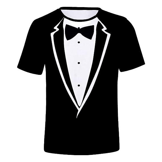 BOBOLover Traje Falso Camiseta De ImpresióN De Los Hombres ...