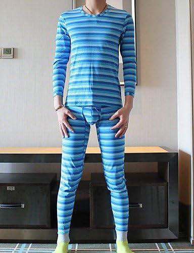 zsrr Hombre Algodón Calzoncillo Largo/pijama de rayas de cebra ...