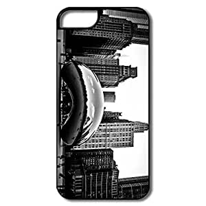IPhone 5S Case, Cloud Gate Chicago White/black Cases For IPhone 5/5S