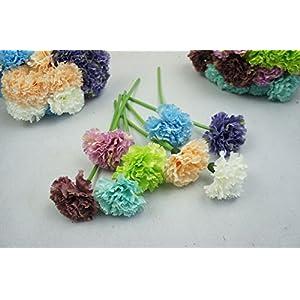 Lily Garden 12 Stems Artificial Carnation Flower Silk Bouquet (Green) 2