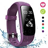 Fitness Tracker - moreFit Slim Touch HR Heart Rate Waterproof Activity Tracker Wireless Bluetooth Smart Bracelet Watch Sleep Monitor Pedometer - Purple