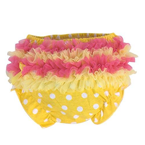 DanDe Cute Baby Girls Pettiskirt Ruffle Panties Briefs Bloomer Tutu Diaper Cover for 9-15M