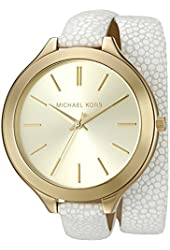 Michael Kors Watches Slim Runway Gold-Tone 3 Hand Watch