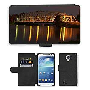 Hot Style Cell Phone Card Slot PU Leather Wallet Case // M00170614 Finland Bridge River Water Night // Samsung Galaxy S4 S IV SIV i9500