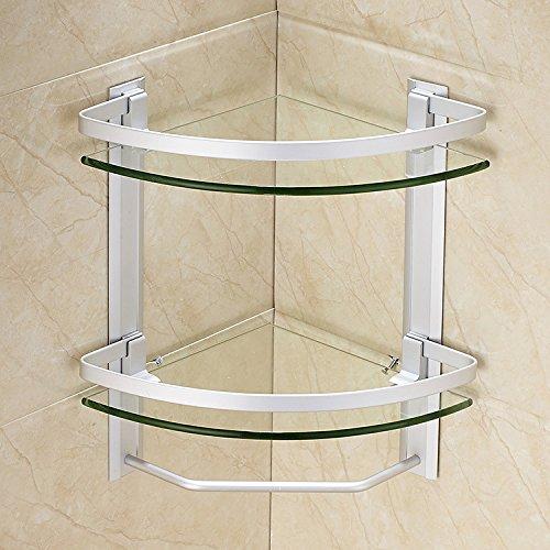 Blyc Doppelte Glas Bad Eckregal Amazon De Kuche Haushalt