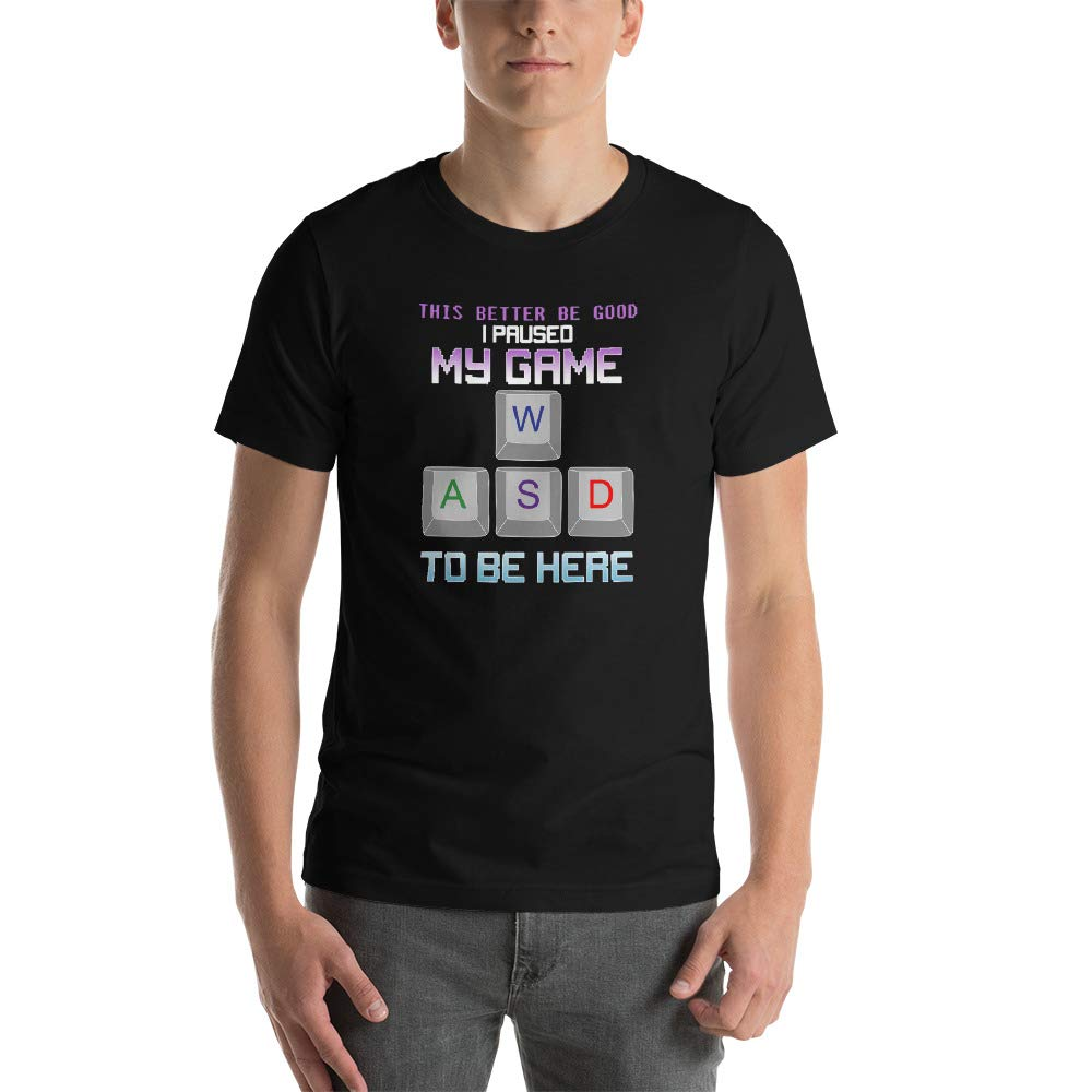 Computer Game Paused My Game Short-Sleeve Unisex T-Shirt