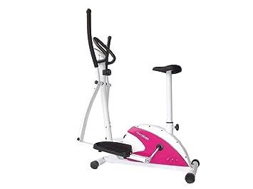 Fitness House FH Dual Bicicleta Elíptica Y Estática 2 X 1 Unisex Blanco y Rosa Estandar