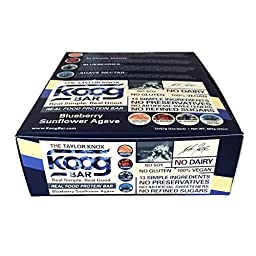 Real Food Protein Bar Koog Blueberry Bar Health is Wealth 12 bars/box