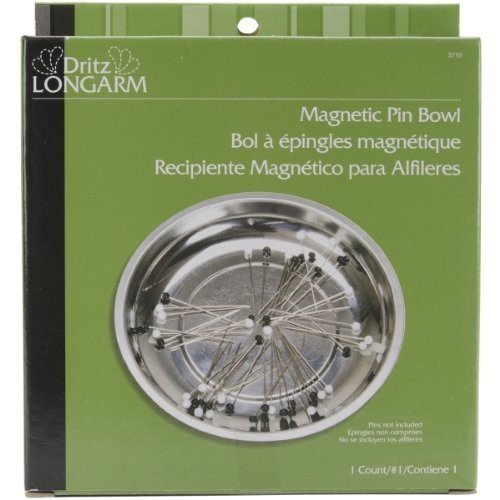 Dritz Steel Longarm Magnetic Pin Bowl by (Dritz Magnetic Pin)