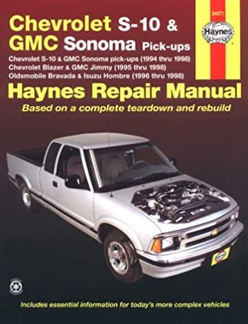 haynes chevrolet s 10 and gmc sonoma pickups 1994 thru 1998 haynes rh amazon com 2000 Chevy S10 1996 chevy s10 blazer owners manual