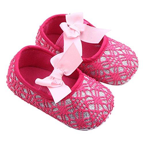 Omiky® Mode Glitter Baby Schuhe Sneaker Anti-Rutsch Soft Sole Kleinkind Heißes Rosa