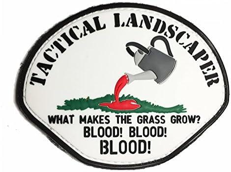 The Tactical Landscaper PVC Morale Patch Blood Blood Blood!